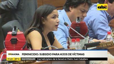Senado aprueba subsidio para hijos de víctimas de feminicidio