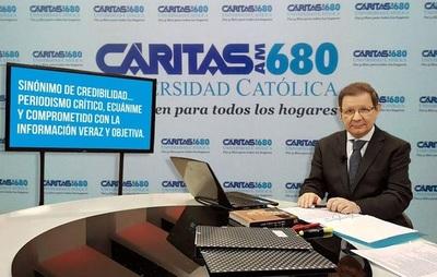 Humberto Rubin y Carlos Martini recordaron el 83° aniversario de Radio Caritas