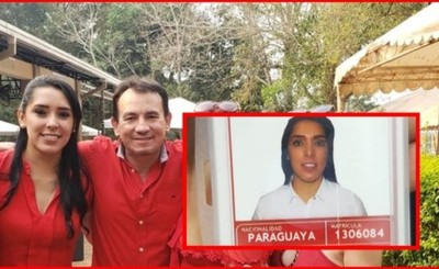 Esposa de Wilberto Cabañas a Itaipu con jugoso salario