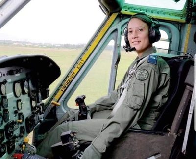 La valiente pilota que estuvo al mando del helicóptero caído en PJC