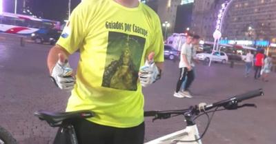 En bicicleta desde Buenos Aires para ver a la Virgen