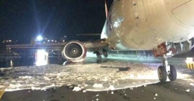 Avionazo perdió el tren de aterrizaje