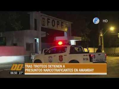 Tras tiroteos, detienen a presuntos narcotraficantes en Amambay
