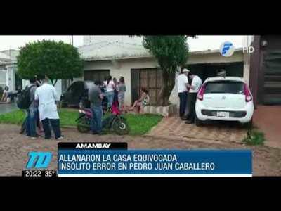 Allanaron casa equivocada y golpearon al propietario