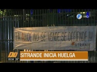 Funcionarios de la ANDE a huelga