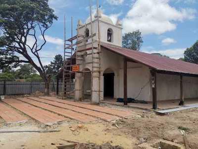 Histórico templo de Yabebyry recobra su brillo con trabajos de restauración