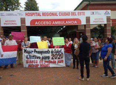 Ciudadanos piden mayor presupuesto para salud en Alto Paraná