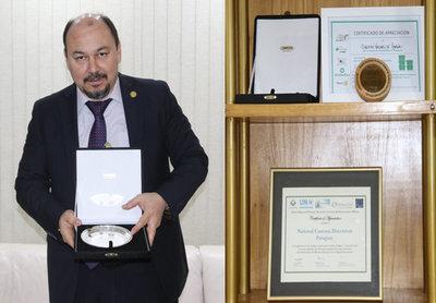 Conmebol distinguió a Aduanas por trabajos realizados para la Final Sudamericana
