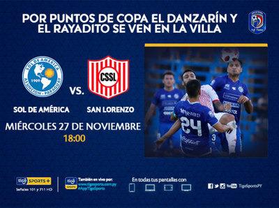 Sol de América y San Lorenzo buscan boleto para la Sudamericana