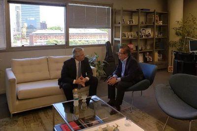 Duarte Frutos habla con Alberto Fernández sobre comisión binacional para EBY