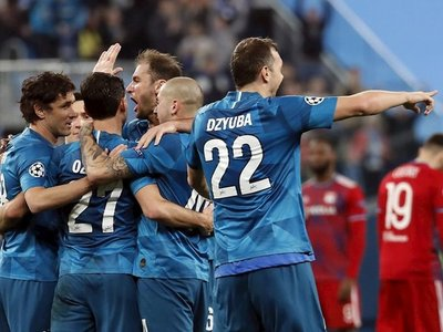 El Zenit derrota al Lyon y sueña con los octavos de la Champions