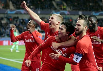 Salzburgo golea en Bélgica y sueña con la clasificación