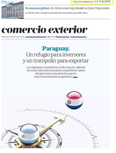 Importante diario argentino destaca a Paraguay como centro de inversiones