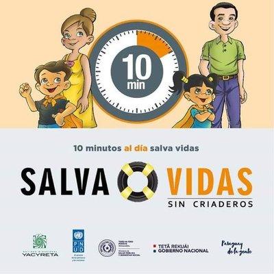"""Continúa campaña contra el dengue """"Salva Vidas sin Criaderos"""""""