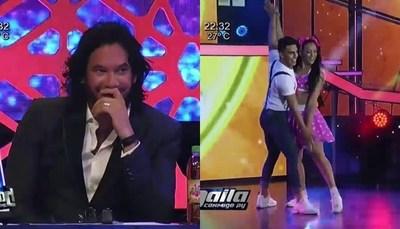 """Las caras de Mario Cimarro mientras bailaba """"La Chica Extra"""""""