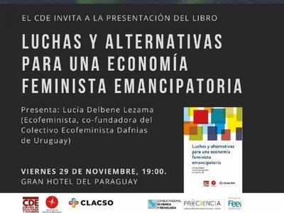 Presentan libro sobre economía desde perspectiva feminista