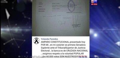 Esposa de Payo pide ocupar banca de su marido mediante amparo constitucional