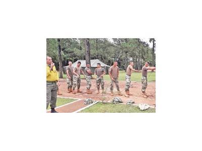 Itapúa capacita a militares como bomberos forestales