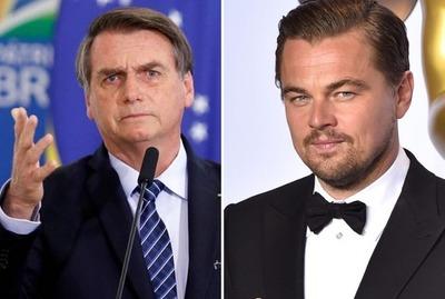 Bolsonaro acusa a Leonardo DiCaprio de financiar incendios en el Amazonas