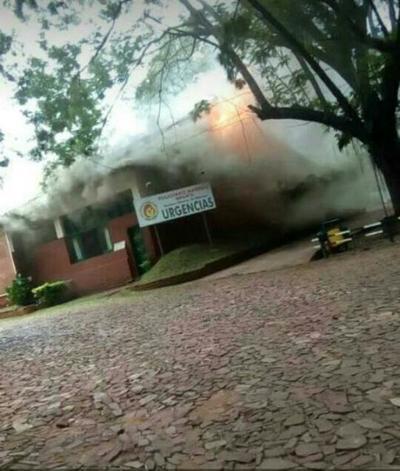 Incendio en el Hospital 'Aldea Infantil SOS de Hohenau'