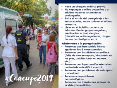 Operativo Caacupé 2019: Salud Pública insta a no olvidar las recomendaciones
