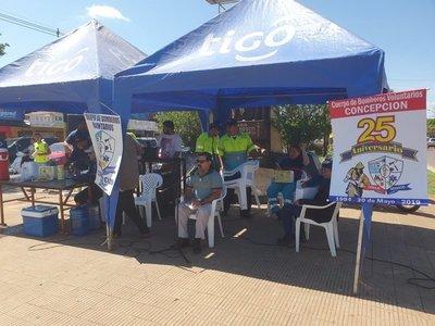 Bomberos de Concepción realizan maratón anual para recaudar fondos