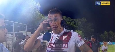 Marco Prieto y su felicidad por el gol marcado ante Santaní