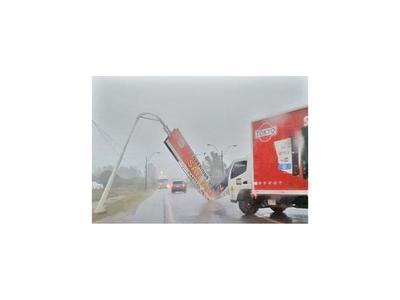 Un fuerte temporal golpea a  San Miguel Misiones y Pilar