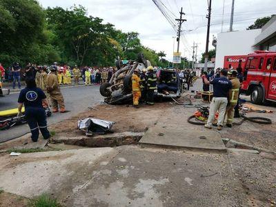 Transchaco fue escenario de accidente que dejó cuatro víctimas fatales