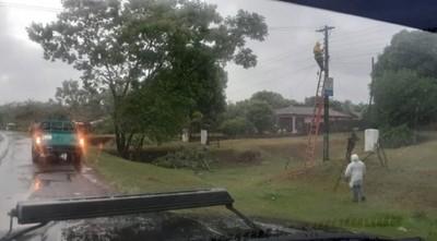 ANDE continúa trabajando para reposición del servicio tras el temporal