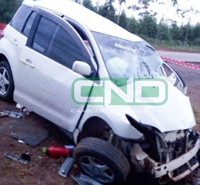 Dos niños fallecieron tras accidente en Caaguazú