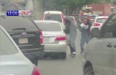 Revelan más imágenes de robo en Ñemby