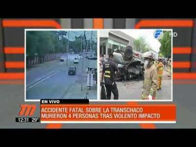 Así fue el fatal accidente sobre Transchaco