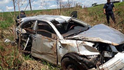Policía transportaba droga y murió en accidente vial