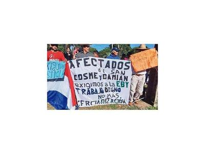 Sancosmeños piden trabajo a Yacyretá
