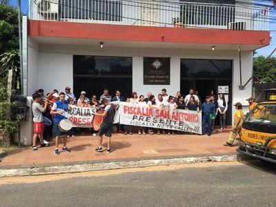 Protesta por inminente cierre de sede fiscal en San Antonio