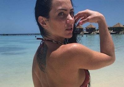 Pamela Rodríguez disfrutando de Punta Cana