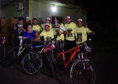 Más de 1.000 kilómetros en bicicleta por la Virgen de Caacupé