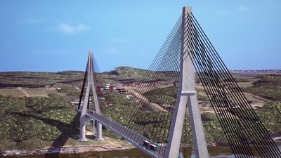 CAF aprueba créditos para acceso vial a segundo puente con Brasil y mejora del sistema eléctrico