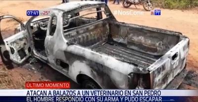 Atacan a balazos a veterinario en San Pedro