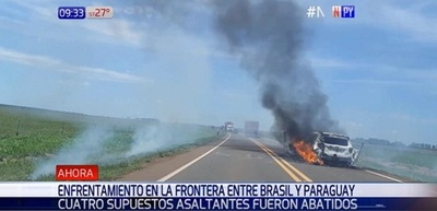 Cuatro asaltantes son abatidos en frontera con Brasil