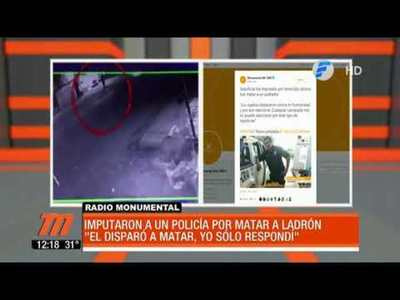 Imputaron a policía por matar a un ladrón