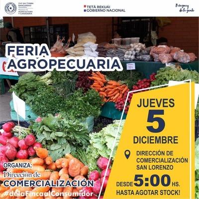 MAG y productores harán feria agropecuaria este jueves en San Lorenzo