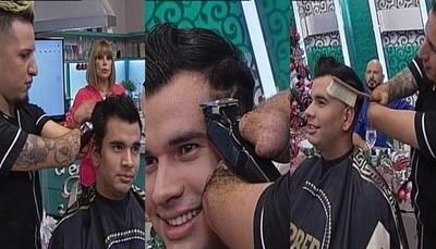 """El peluquero que no tiene manos deslumbró en """"Al Estilo Pelusa"""""""