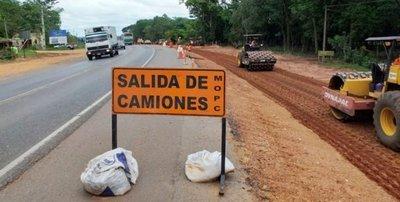 Obras en la ruta de Caaguazú ponen en peligro a peregrinos