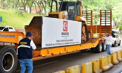 Las primeras maquinarias ingresan al lado paraguayo para inicio de obras en Franco