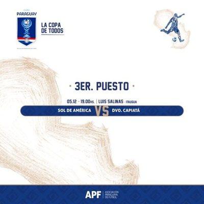 Capiatá y Sol de América definen el tercer puesto de la Copa Paraguay