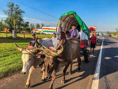 Llegaron carretas ayer desde Yaguarón