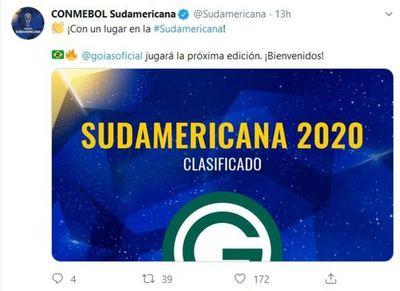 La Sudamericana saludó a Goiás y no al Deportivo Capiatá