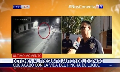 Detienen a hombre sindicado de asesinar a hincha en Luque